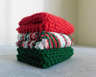 Holiday Dishcloth Trio