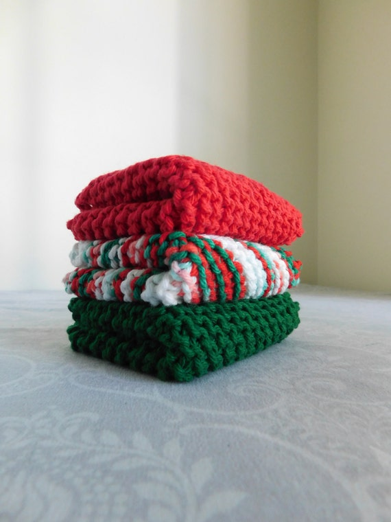 Holiday Dishcloth Trio