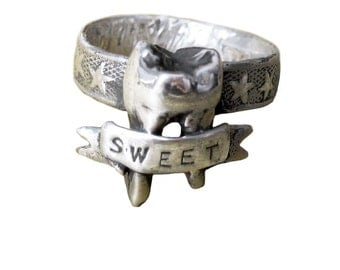 Tooth Ring    sweet silver gold jewelry anomaly