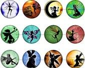 Fairy Magnets, Fairy Pins, Fairy Flatbacks, Fairy Cabochons, Fairy Badges, Fairy Party Favors, Fairy Silhouette, Fairy Magnet Gift, Set D
