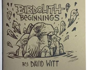 Birdolith Beginnings screen printed comic book