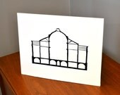Architecture Papercut, La Rotonda, 11x14 or 8x10 Original hand-cut paper art