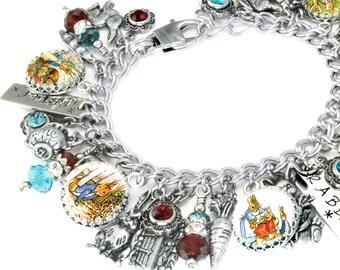 Beatrix Potter Peter Rabbit, Beatrix Potter Bracelet, Peter Rabbit Jewelry, Easter Jewelry, Beatrix Potter Book