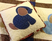Puppy Love crib quilt with matching pillow Special Order for Lori