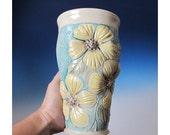 High Relief floral design flower vase