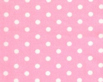 Robert Kaufman Pimatex Polka dots on Pale  pink, yard