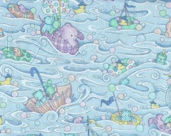Baby Fabric By Leslie Beck, 20 X 44 Inch Piece ( last Chance)