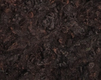 Border Leicester Yearling Fleece, 1 ounce, Dark Chocolate