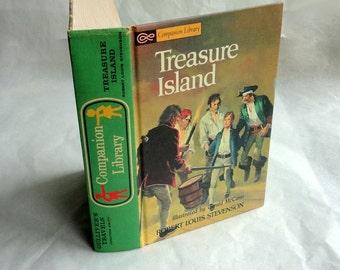 TREASURE ISLAND Hollow Book Keepsake Box Vintage Book Cover Fake Book Secret Secret Stash Box Hidden Compartment Groomsman Wedding Wooden