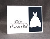 CUSTOM Thank You Flower Girl Card with Name, Personalized Flower Girl Thank You Card, Flat Rate Shipping, LS1
