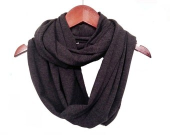 Super Soft Antibacterial Bamboo & Organic Cotton Striped Circle Scarf // Made in USA