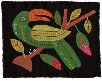 Stellar, Vintage 90's Bird Mola - Kuna Indian Reverse Applique Art
