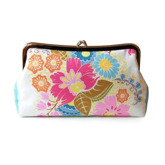 Floral clutch purse, Boho clutch purse, Summer purse, Colorful clutch, Fabric clutch, Floral evening bag, Handmade clutch, Flower purse
