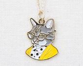 Cat Necklace - Cat Pendant - Ryan Berkley Illustration - Tabby Cat - Charm Necklace - Gift for her - Berkley Illustration