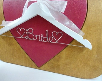 Bride Wire Hangers Bridal Hangers Wedding Dress Hangers by OriginalBridalHanger