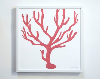 Italian Red Coral Print