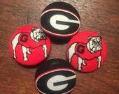 Sic 'em dawgs- gameday fabric buttons