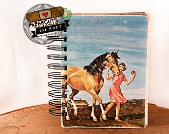 Straight From the Horse's Mouth - Wire-Bound Recycled Art Journal