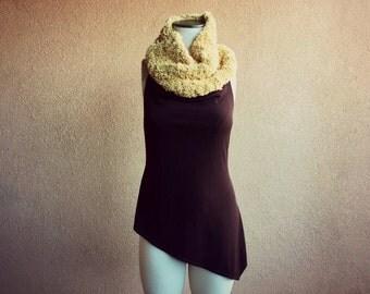 Infinity Scarf Knit Chunky Scarf Neck Gaiter Cozy Scarf Accessories Soft Yellow Chunky Knit Scarf