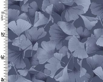 Petite Ginkgo gray Kona Bay tonal leaf tone-07
