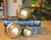 Three Apples a Day. Vintage brass apple collection