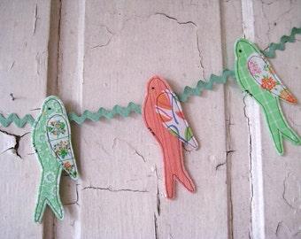 Handmade Bird Banner Bunting