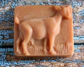 Scented Goat's Milk Soap, Goat Soap, Scented Goat Soap, Pricilla the Goat Soap, Goat Motif Soap, Homemade Soap, Made in Montana Soap