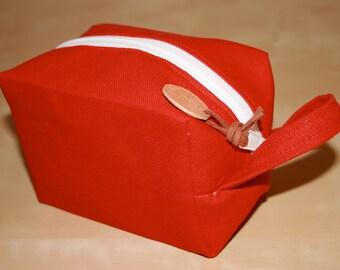 Red Canvas Dopp Kit