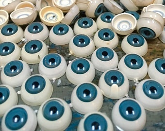 vintage eye balls  doll parts made in Germany  toy blue eyes (AAA17) craft supplies