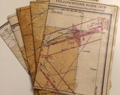 Passport Holder- Vintage 1956 Aeronautical Map of Montana, Wyoming - Choose 1
