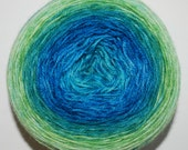 Mermaid Lagoon Panoramic Gradient, 100g Greatest of Ease, dyed to order