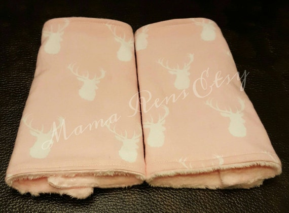 Pink Buck Deer  flared suck pads for Lillibaby Tula Ergo Beco SSC