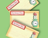 Recipe Cards, Kitchen Scale, Smash Book, Ephemera, Papers, Junk Journal...Mini Smash Journal INSTANT DOWNLOAD, ATC...Sale