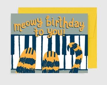 Birthday Card -  Meowy Birthday To You