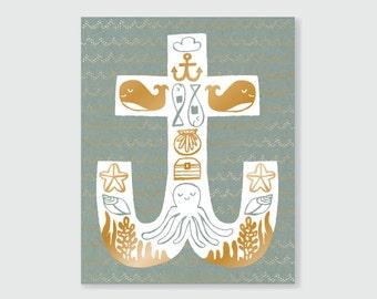 Nautical Print - Art Print 8x10