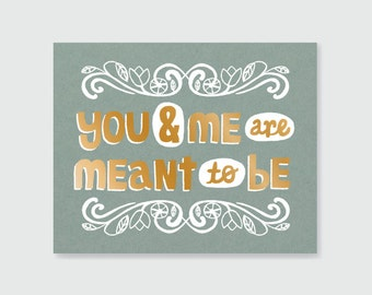 You and Me Print - Art Print 8x10