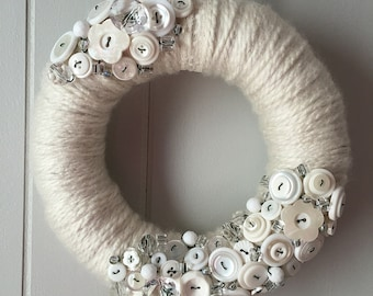 Yarn Wreath - Vanilla Creme