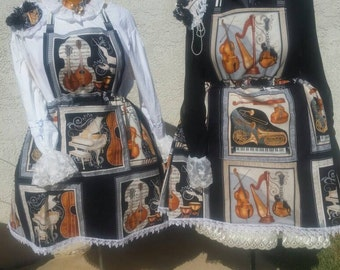 Musical Pinafored Skirt WITH ACCESSORIES: Plus Size