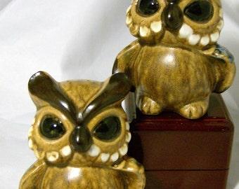 Vintage Owls Salt and Pepper Shakers