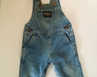Vintage Baby OshKosh B'Gosh Bib Jeans Overalls