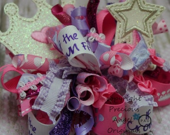 If the Crown Fits- Princess Funky Loopy Bow