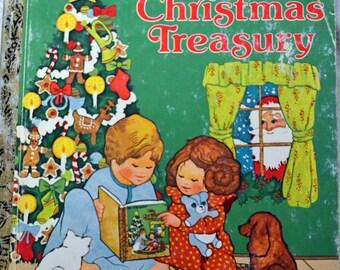 Vintage Children's Book My Christmas Treasury  Little Golden Book Christmas Book Get 5 Books for Ten