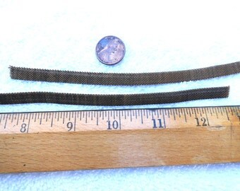 4 Feet, 3 Inches of Vintage Brass Band/Chain, 8mm Mesh