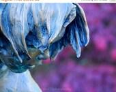 """40% OFF SALE Statue Photograph, Face, Portrait, Still Life Picture, Landscape, Purple, Blue,  - 8x10 inch Print - """"Thinking of Plum"""""""