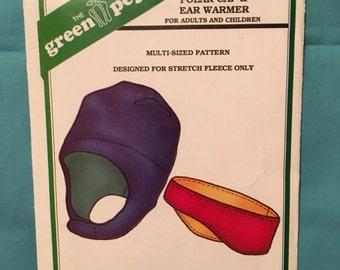 Uncut the Green Pepper Sewinng Pattern no. F787 - Polar Cap & War Warmer from 1998 - For Adults and Kids