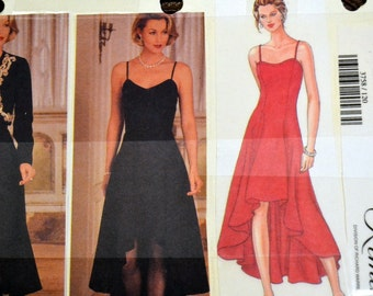 Vintage Sewing Pattern Butterick 3758 Misses' Evening Dress Size 12-14-16 Bust  34-38 inches  Complete