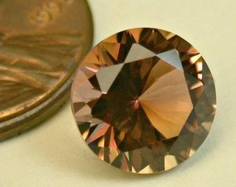 VINTAGE TOURMALINE Brownish Pink Mozambique Faceted Gemstone Round 3.73cts fg185