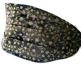 Black Gold Cummerbund , Tuxedo Accessories , Mens Formal Wear , Gift for Him , Cumberband ,  Wedding Tuxedo , Cumberbund