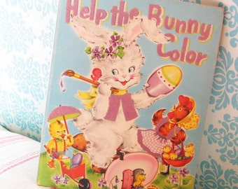 Help the Bunny...Adorable Vintage Spring & Easter Coloring Book