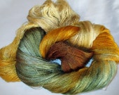 Hand dyed Tencel Yarn - 900 yds. Lace Wt. Tencel Yarn  HONEYSUCKLE